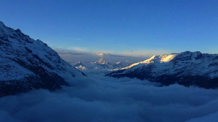 above the clouds, Saas Fee