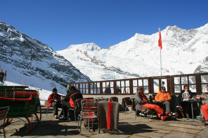 lunch time in the sun, Saas Fee