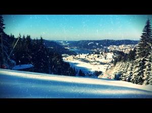 vue retouchée depuis le Tétras, Gérardmer photo