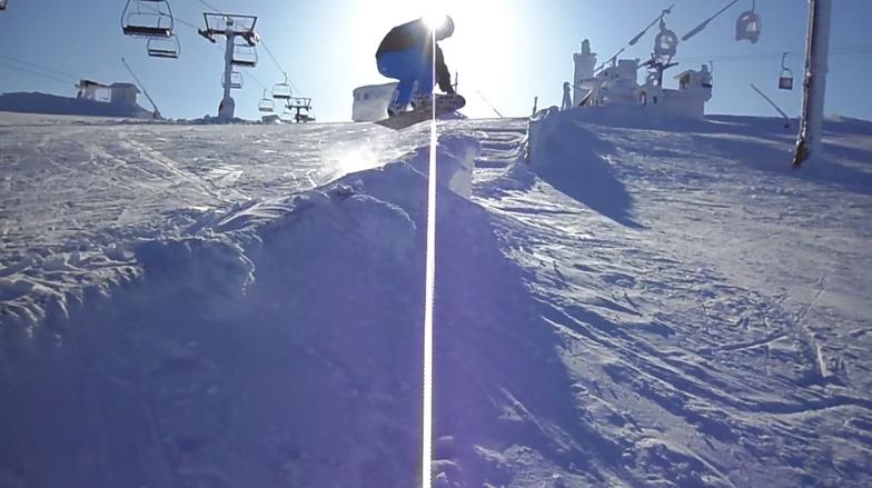 Entrando al snowpark, Valgrande-Pajares