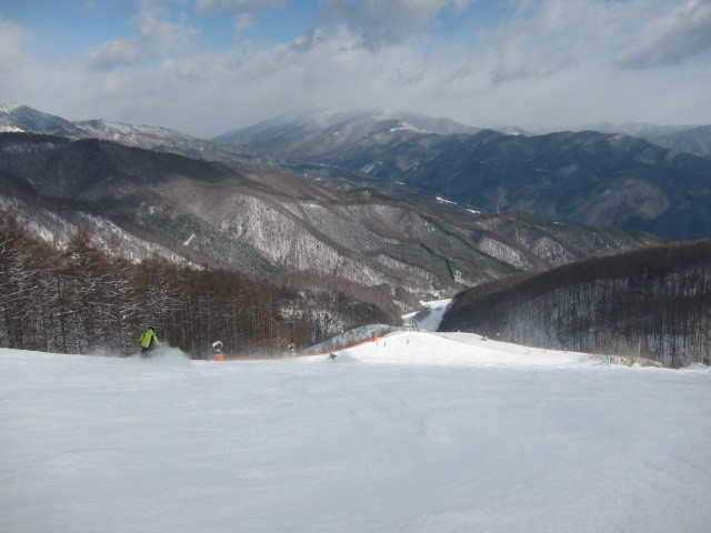 Middle slope in Japan Kiso., Yabuhara Kogen