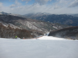 Middle slope in Japan Kiso., Yabuhara Kogen photo