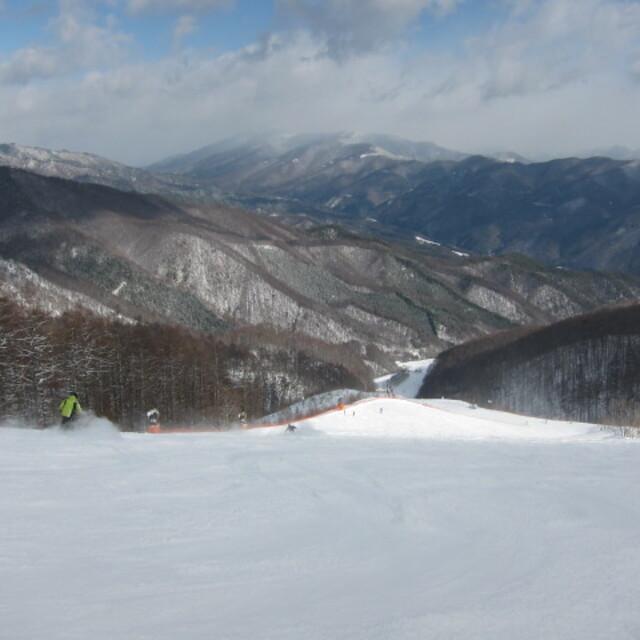 Middle slope in Japan Kiso., Yabuhara Kogen