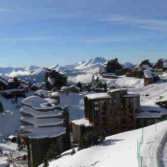 Arriving in Avoriaz