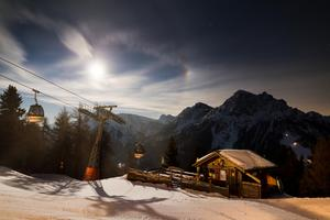Panorama moon, Kronplatz photo