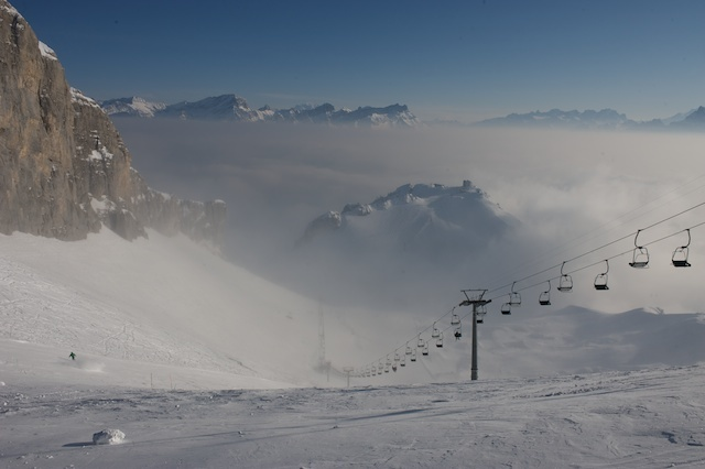 Leysin above the clouds