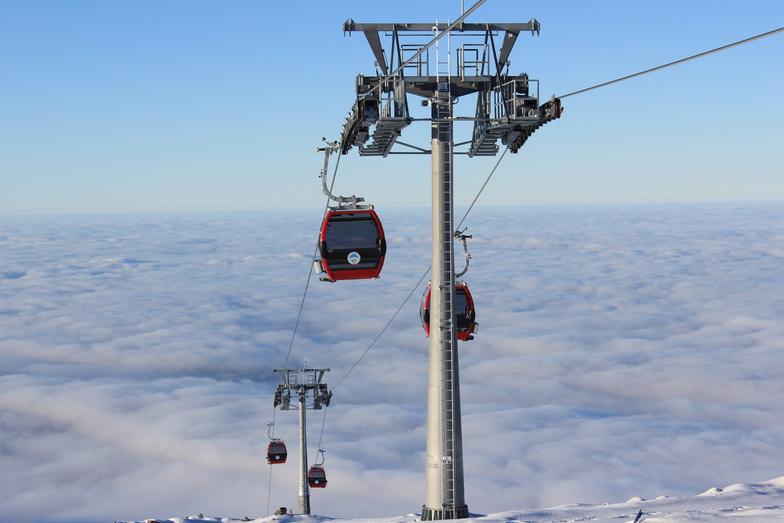 gondol ve bulutların altında kayseri, Erciyes Ski Resort