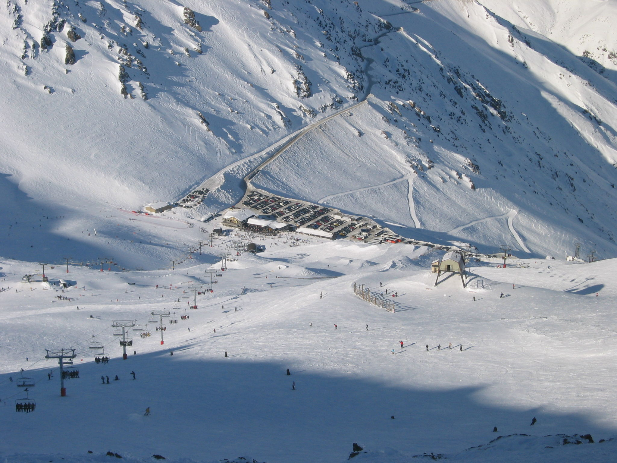 View from Mount Hutts Summit at the ski area, Mt Hutt