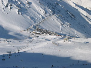 View from Mount Hutts Summit at the ski area, Mt Hutt photo