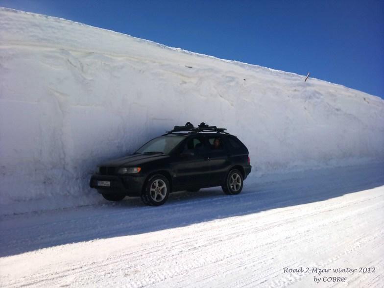 In my X5 to Mzar Resort, Mzaar Ski Resort