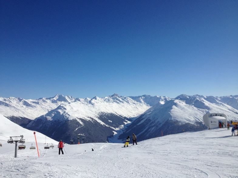 View from the hohenweg, Davos