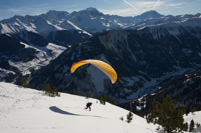 Champex-Lac snow