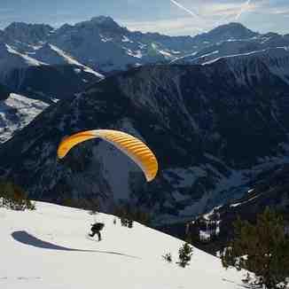 Take off, Champex-Lac