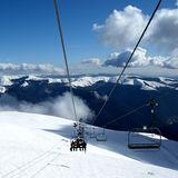 Snowy peaks, Romania