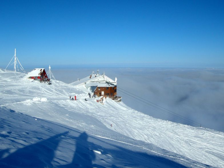Clouds covering the valley, Sinaia