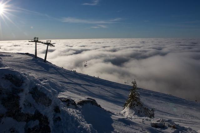 Above the clouds at La Dole, La Dôle
