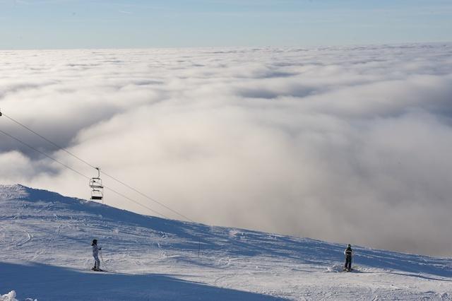 Sea of clouds, La Dôle
