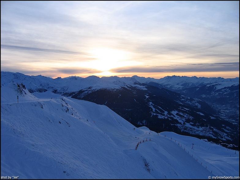 Les Arcs sunset