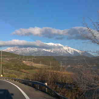 the road to ski paradise!!!, Mt Parnassos-Kelaria