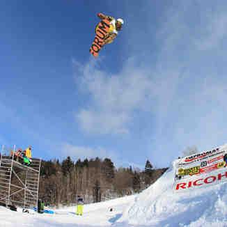 Tomas Tuzar in Rejdice snowpark. Foto by Premek Vida, Kořenov - Rejdice
