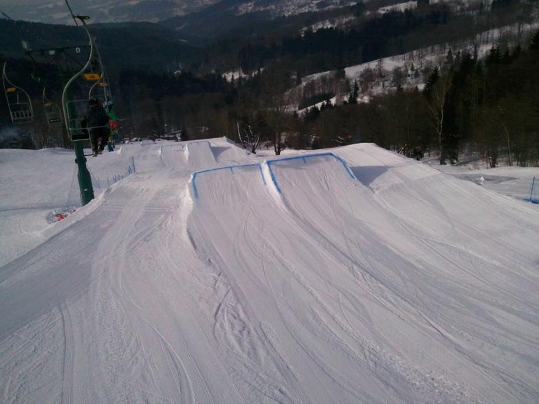 Almost 1km long snowpark!, Kořenov - Rejdice