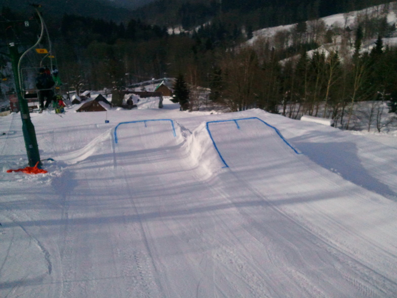 Big Air, our last obstacle in snowpark. Two takeoffs 8-15m long table! Watch out for big air, ask the locals for speed check before your first try! !, Kořenov - Rejdice