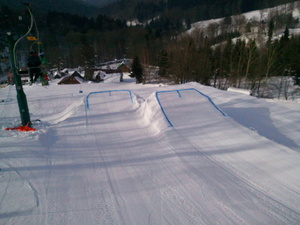 Big Air, our last obstacle in snowpark. Two takeoffs 8-15m long table! Watch out for big air, ask the locals for speed check before your first try! !, Kořenov - Rejdice photo