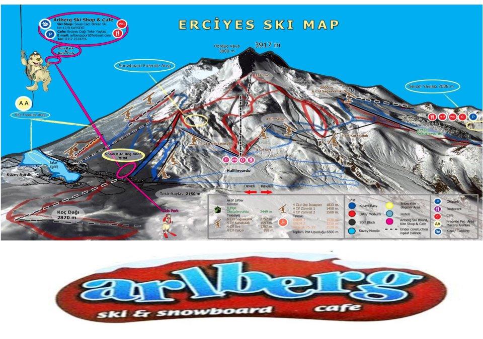 new ski  map 2011-2012, Erciyes Ski Resort