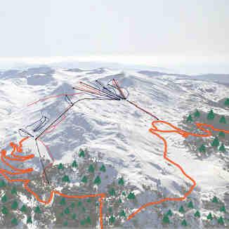 ski map for Kelaria(R)+Fterolaka(L), Mt Parnassos-Kelaria
