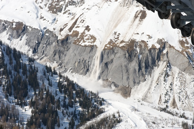 Wet Snow Avalanche, La Fouly - Val Ferret