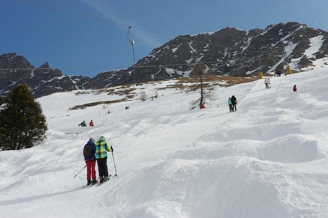 Windswept slopes, La Fouly - Val Ferret
