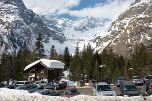 Car park at La Fouly, La Fouly - Val Ferret photo