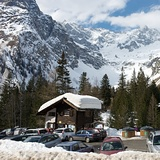 Car park at La Fouly, La Fouly - Val Ferret