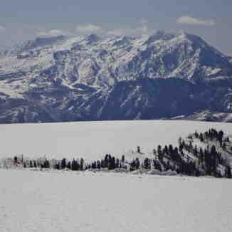 Snow Bain From Sunrise Ridge, Powder Mountain