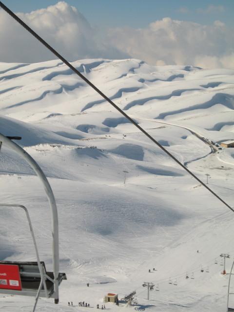 Wardeh Domain looking NW, Mzaar Ski Resort