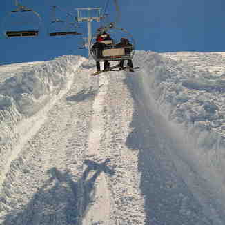 Nabil chair lift - Deep snow, Mzaar Ski Resort