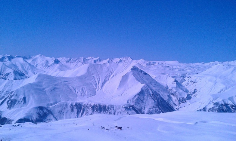 Do you see the lift down there?, Gudauri