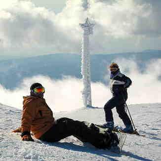Skiing The Clouds - Mzaar top of mountain, Mzaar Ski Resort