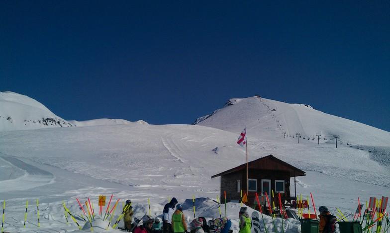 Just below the top, Gudauri