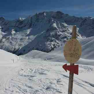 Arolla piste sign
