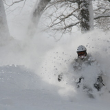 Big D at home in the pow!, Japan - Hokkaido