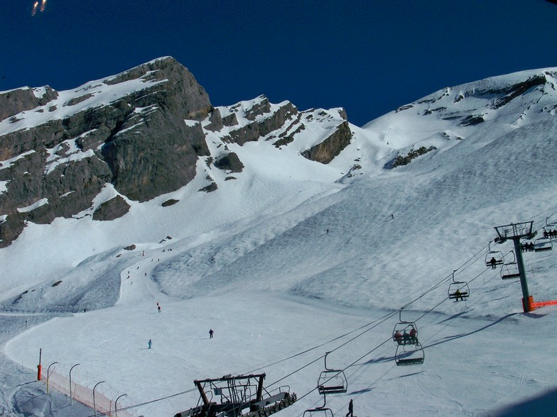 La Balme area in La Clusaz: nice snow, wonderful playground