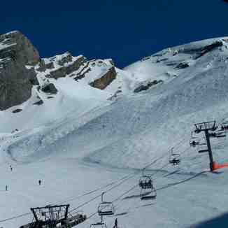 La Balme area in La Clusaz: nice snow, wonderful playground