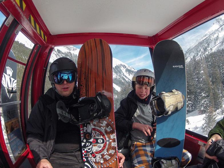 Gondola up to the top of Stubai Glacier