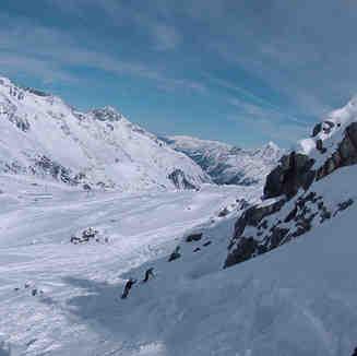 Stubai Glacier Snow