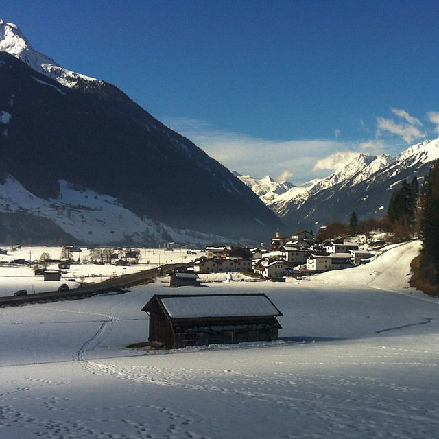 Early March morning start..., Telfes in Stubai