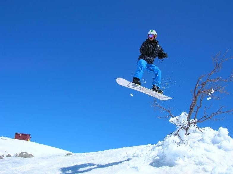 Jumping over the tree, Mount Hermon