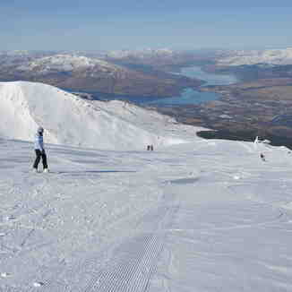 Sweet conditions on Summit Run, Nevis Range