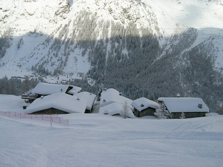 Courmayeur back section and Mt blanc base