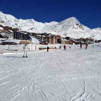 On the pist, Val Thorens